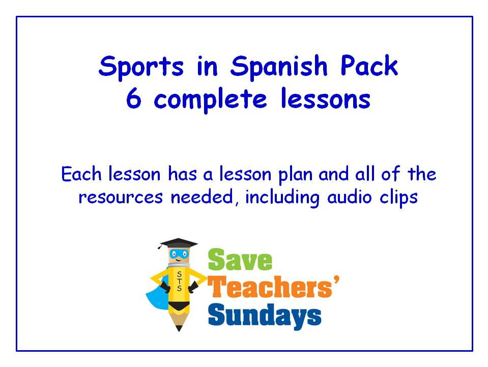 Spanish Sports Unit (6 lessons) - All Lessons Have AUDIO Clips