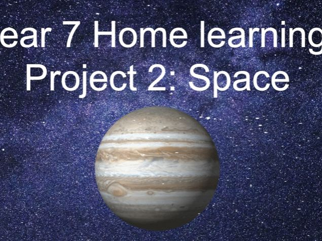 KS3  Home learning project- Space