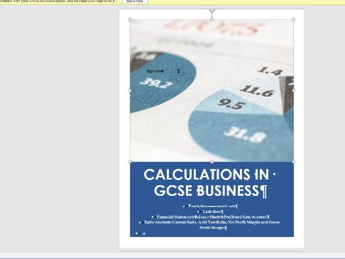 GCSE Business Revision -~Calculations in GCSE Business