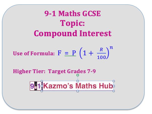 9-1 GCSE Maths Exam Topics: Higher Tier;  Grades 7-9