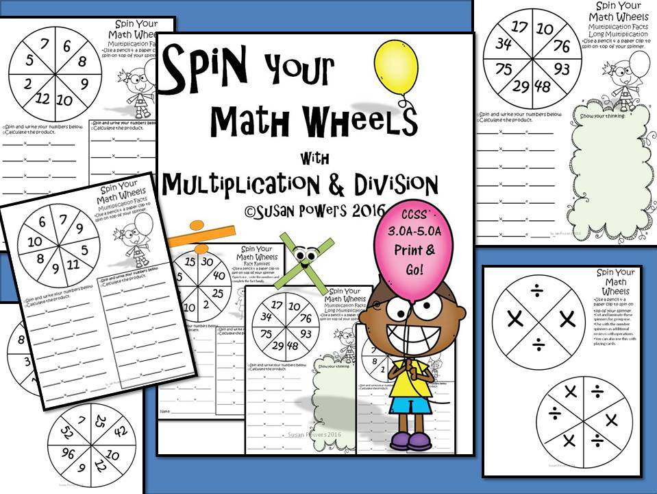 Spin Your Maths Wheels Bundle