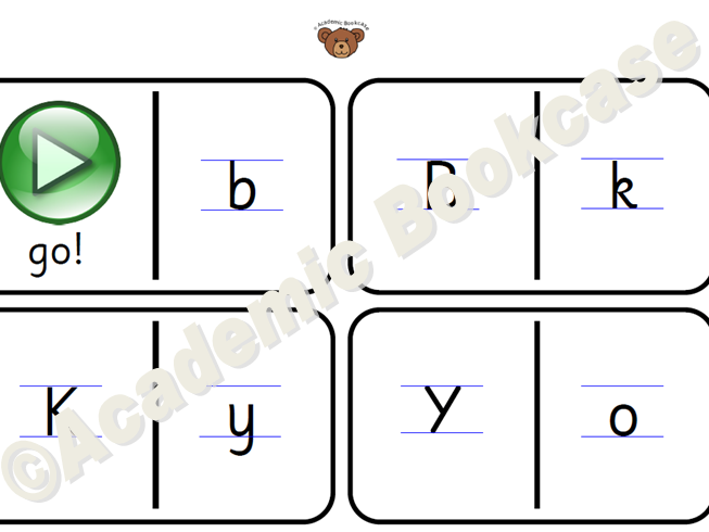 Domino sequence cards - upper and lower case letters