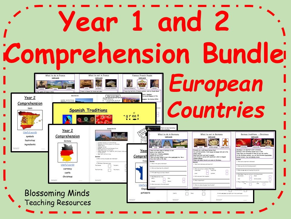 Year 1 and 2 Comprehension Bundle - Countries
