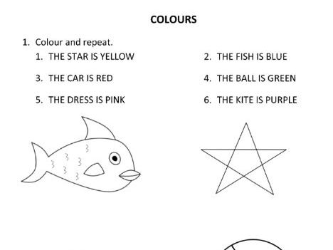 Colours for Year 1 Students