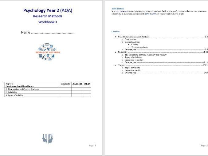 Research Methods 6 Student Workbook