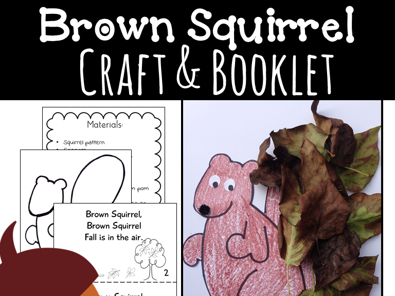 Fall Craft {Squirrel Craft and Emergent Reader Booklet}