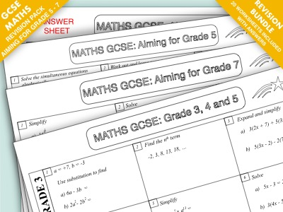 GCSE Maths Revision Pack: Grade 3 - 7 Super Bundle