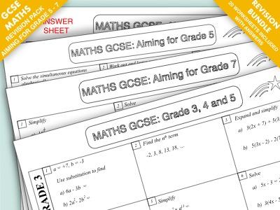 GCSE Maths Revision Pack: Grade 3 - 7 Super Bundle
