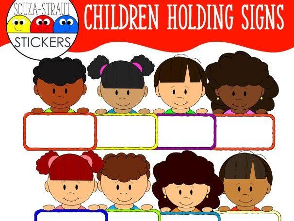 Children Holding Signs