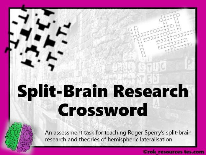 Biopsychology Crossword 5 - worksheet