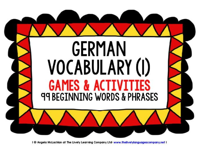 GERMAN VOCABULARY (1) - PRACTICE & REVISION - 99 WORDS & PHRASES