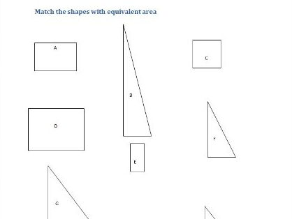 This worksheet is a starter to practise working out the area of rectangles and triangles