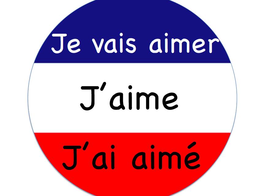 French Flag Verb Circles