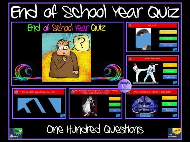 End of Year Quiz 2017 - Bumper 100 Questions