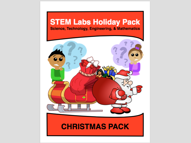 STEM Labs Pack - Christmas Winter Projects Pack of 10 Holiday-Themed Projects