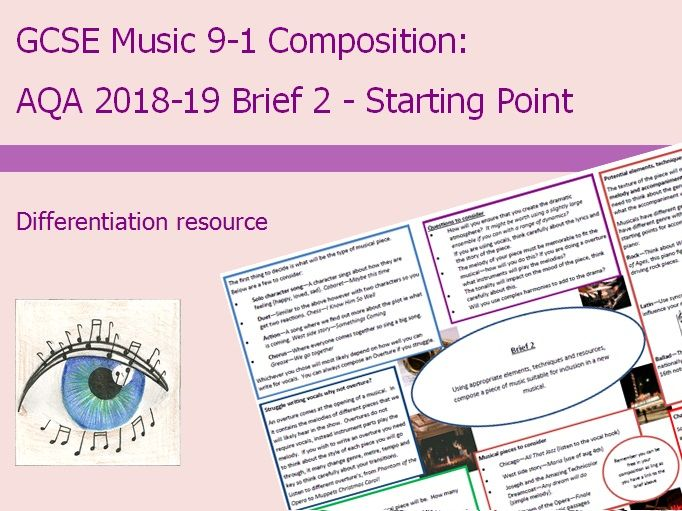 Music GCSE 9-1 Composition: 2018-2019 Brief 2 Starting Point
