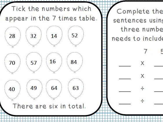Maths Mastery Multiplication Tables: A range of exciting activities on 5x, 6x and 7x tables.