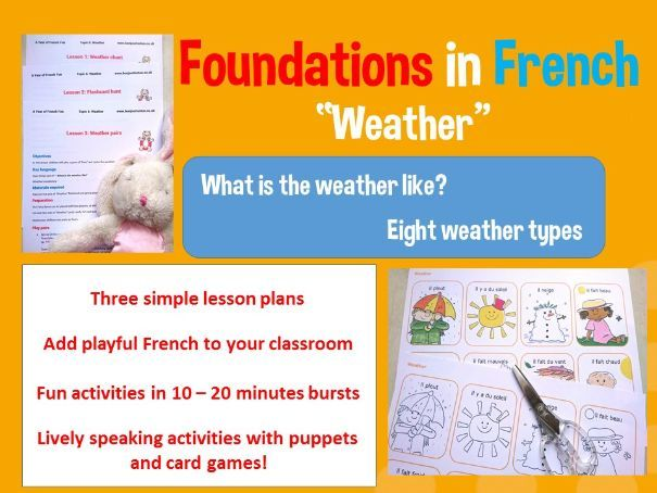 French weather - French basics - 3 lesson plan bundle
