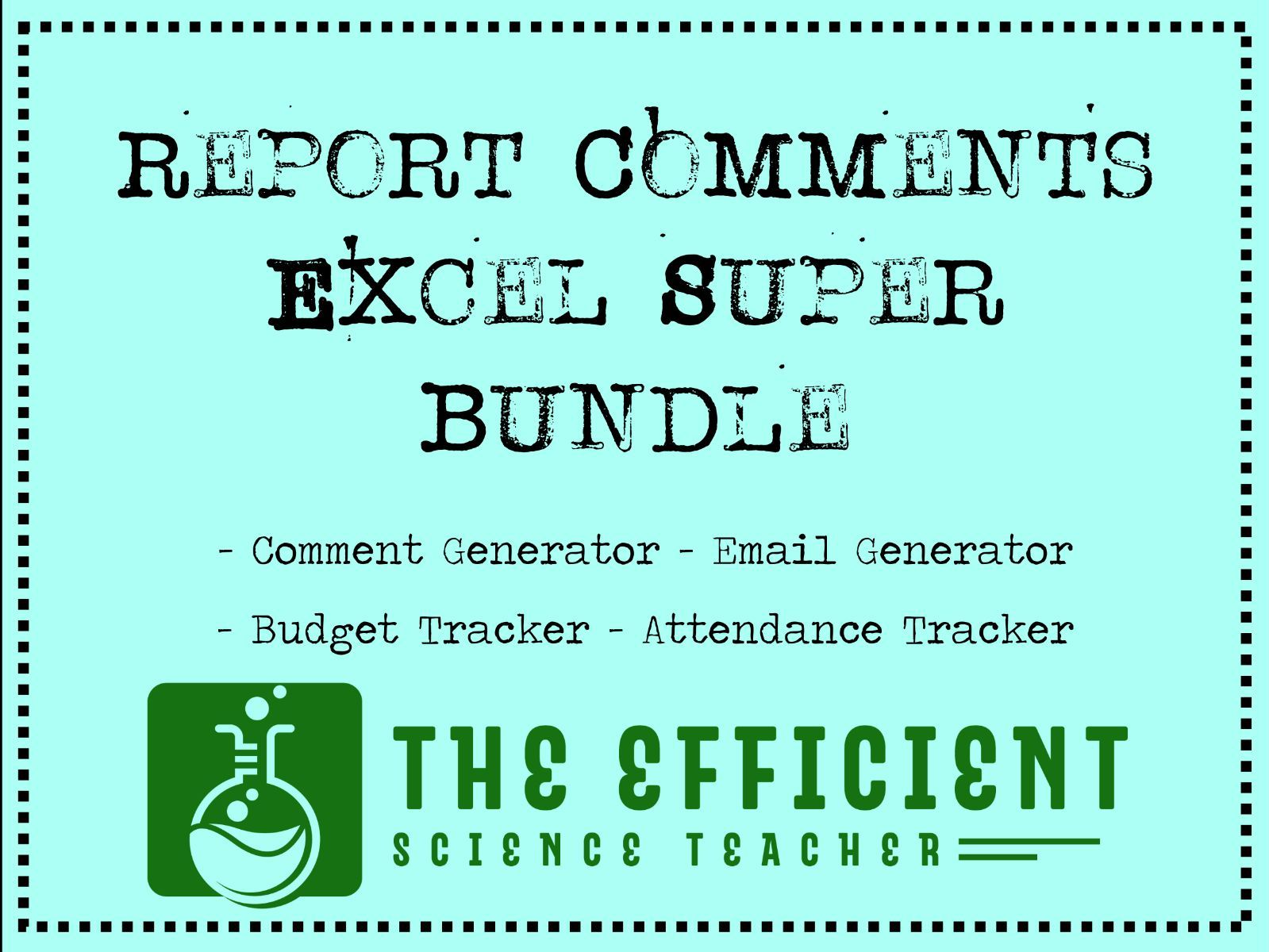 Report Comment Generator Excel Super Bundle