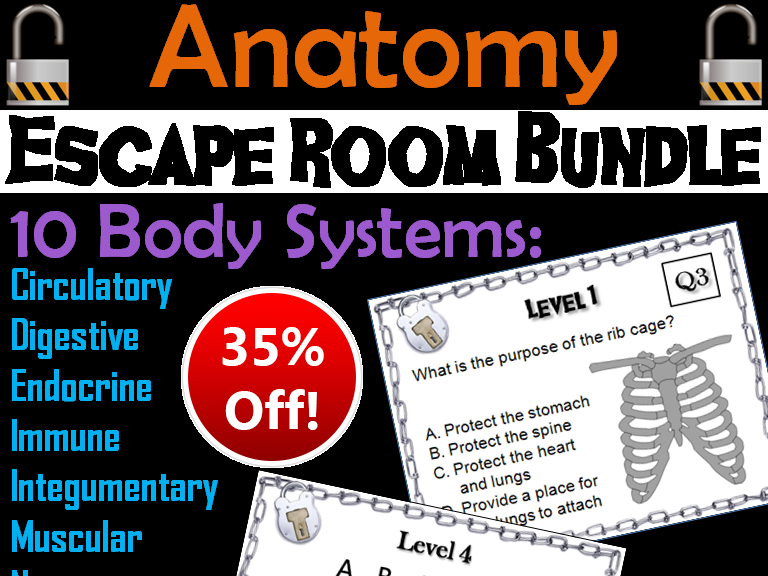 Anatomy Escape Room Science Bundle
