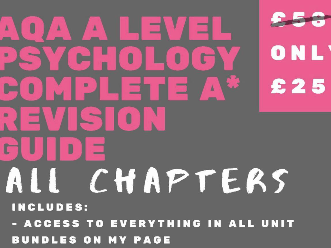 AQA A Level Psychology - A* Bundle