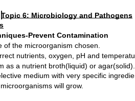 Edexcel A Level Biology Topic 6 Microbiology and Pathogens