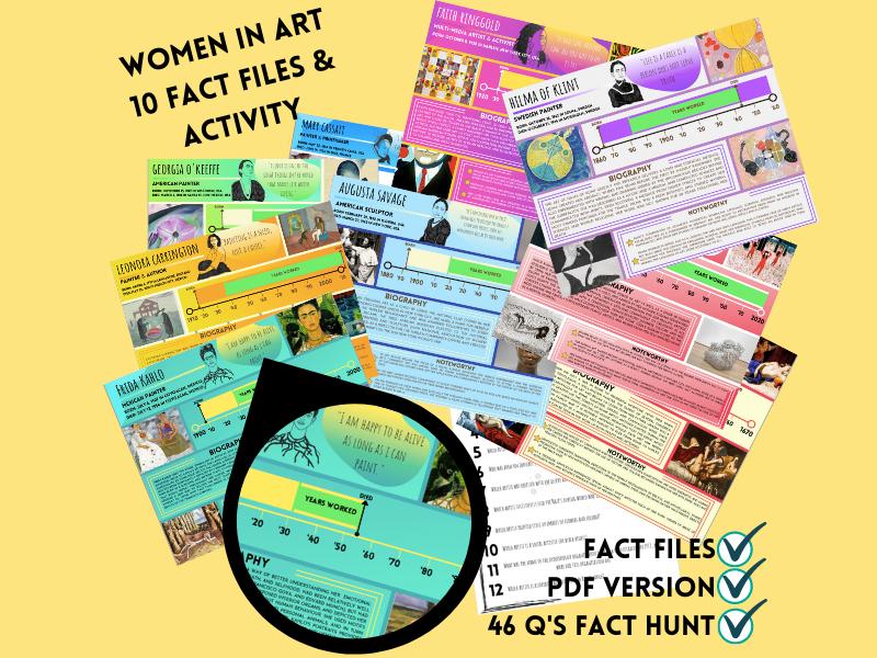 WOMEN IN ART: 10 FACT FILES & ACTIVITY