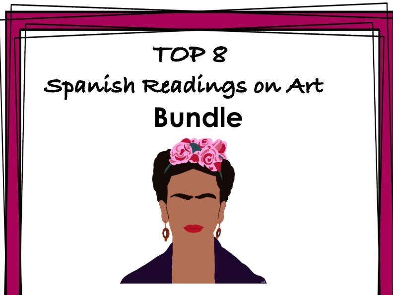 Hispanic Art Reading Bundle: TOP 8  Lecturas de Artistas y Arte @40% off!