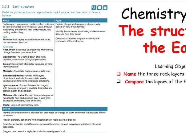 KS3 -  The Structure of The Earth