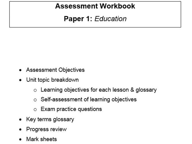 Complete workbook for the new A Level Sociology specification, for PAPER 1 EDUCATION