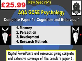 AQA GCSE Psychology COMPLETE paper #1 [ppts)