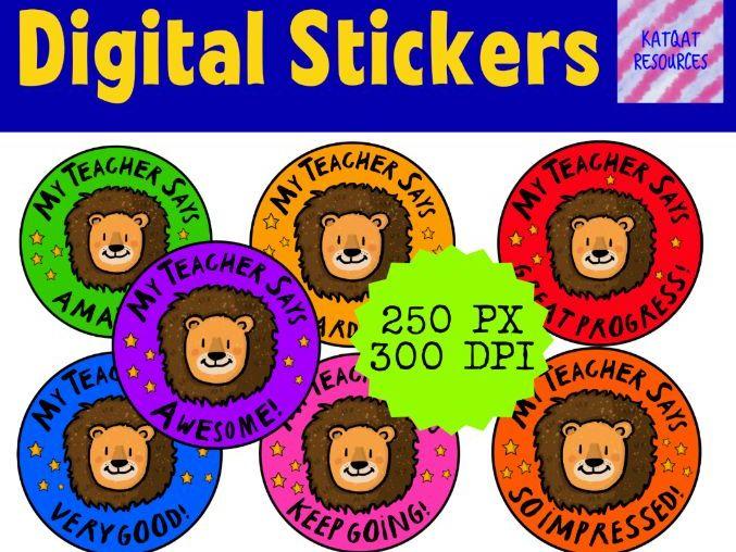 Digital Reward Virtual Teacher Stickers