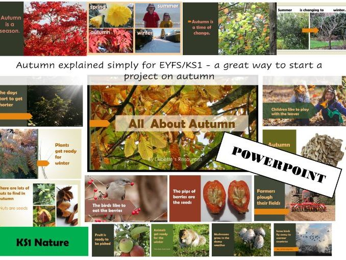All about Autumn for EYFS and KS1 PowerPoint/Video