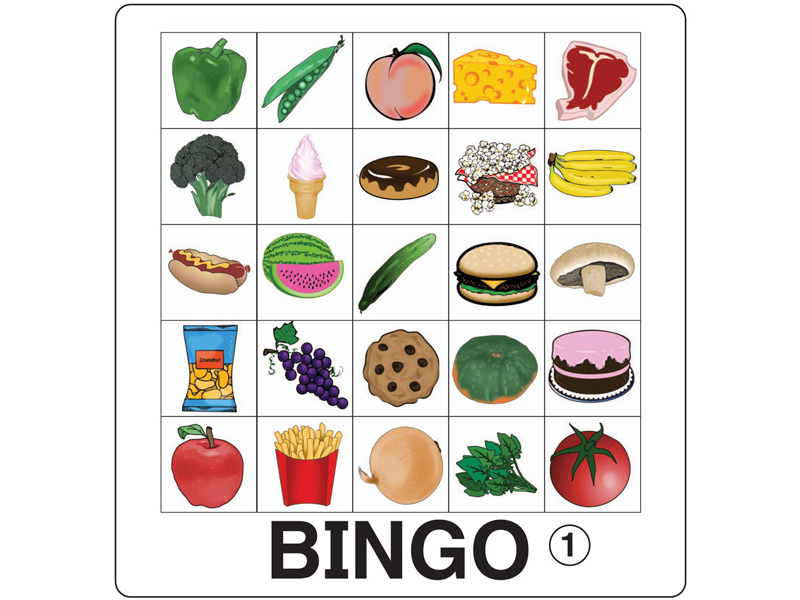 ESL Games - Food Bingo