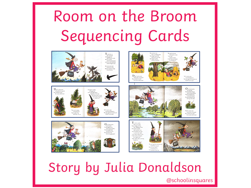 Room on the Broom Story Sequencing Cards