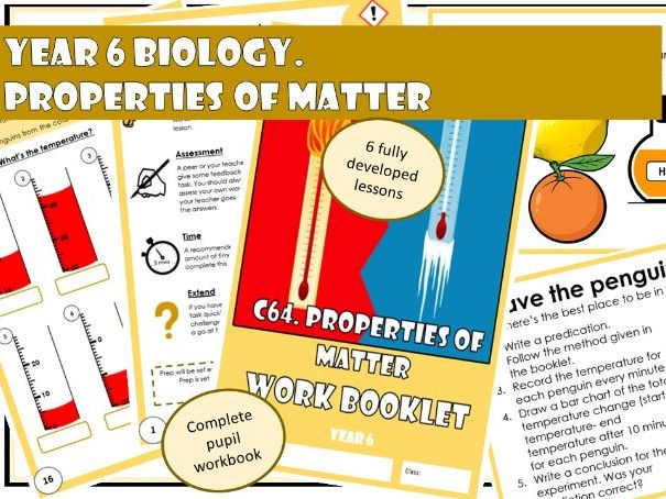 BUNDLE Year 6 Chemistry: Properties of Matter/ Materials