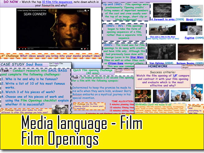 Media Language Film Openings