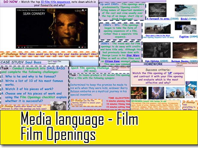 Media Language Film Openings