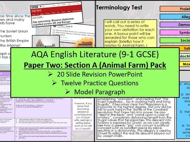 Animal Farm Exam Practice Questions