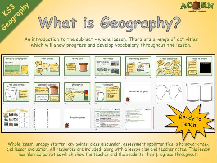 Geography - What is Geography?