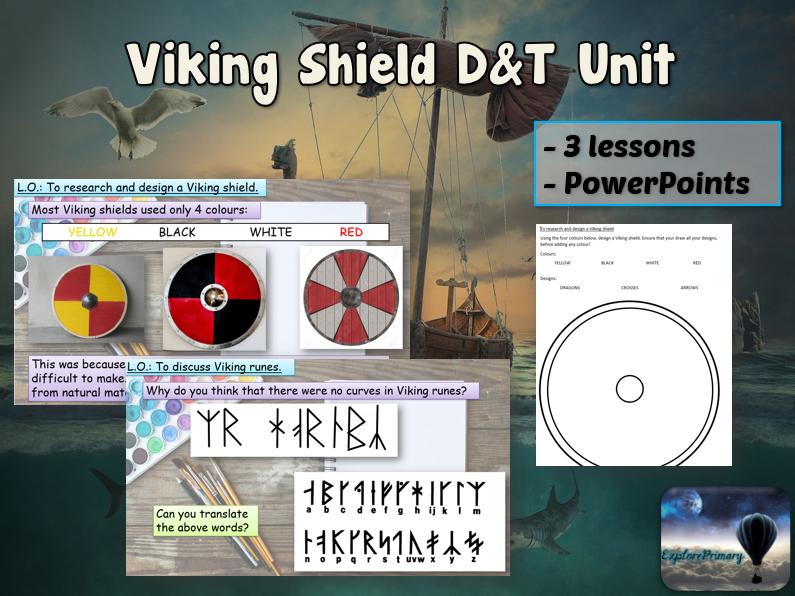 VIKING SHIELD Design & Technology Unit - 3 Lessons