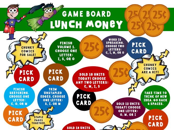 Lunch Money Game Board Activity