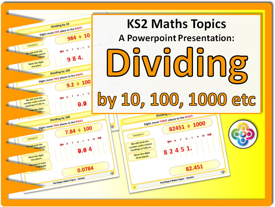 Dividing by 10, 100 and 1000 KS2