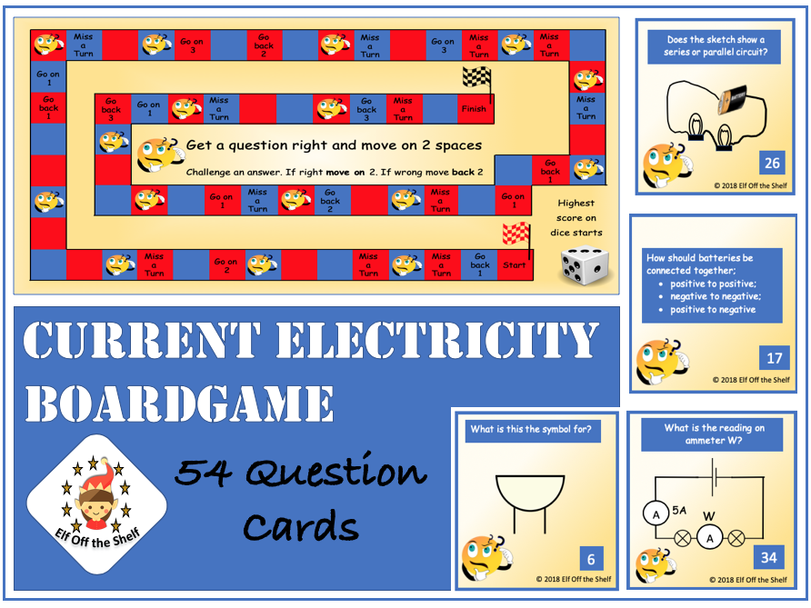 Current Electricity Boardgame KS3