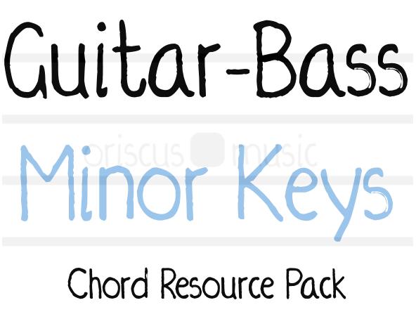 Guitar-Bass Minor Key Chord Cards