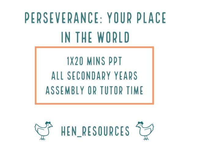 Perseverance: Your place in the world
