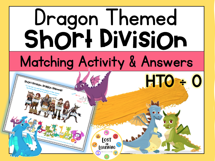 Dragon-Themed Short Division Activity