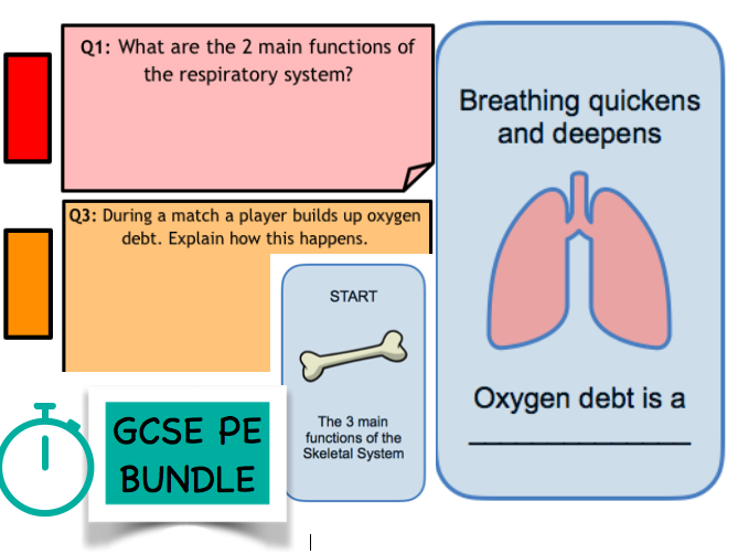 GCSE Physical Education: Components of Fitness, Respiratory & Skeletal System Pack