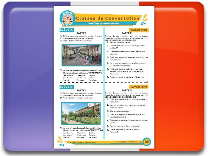 Les quartiers - French Conversation Activity