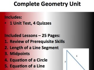 Geometry Complete Unit - High School Geometry